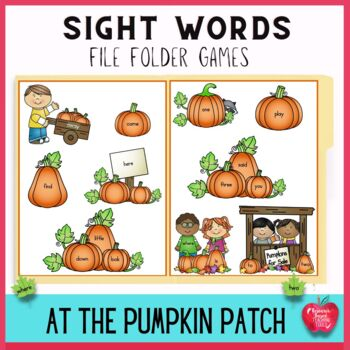 Autumn Sight Words File Folder Games: Adventures at the Pumpkin Patch