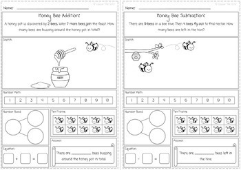 Adventures in Bug Land Addition and Subtraction Word Problems for K.OA 2.0