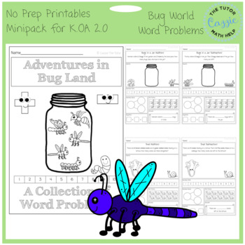 Adventures in Bug Land Addition and Subtraction Word Probl