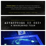 Adventures in CSI: Lesson Plan, Presentation + Activities!