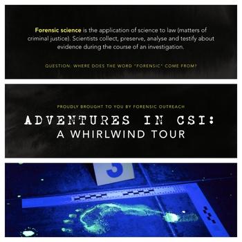 Adventures in CSI: Lesson Plan, Presentation + Activities!