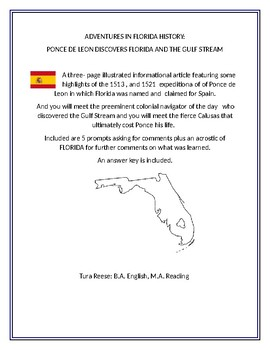Adventures in Florida History: Ponce de Leon and the Discovery of Florida