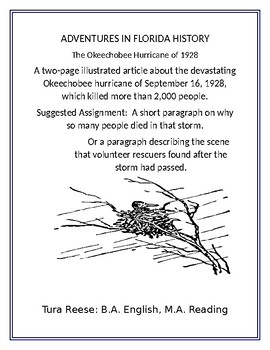 Adventures in Florida History: The Okeechobee Hurricane of 1928