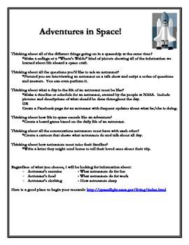 Adventures in Space Astronaut Activities