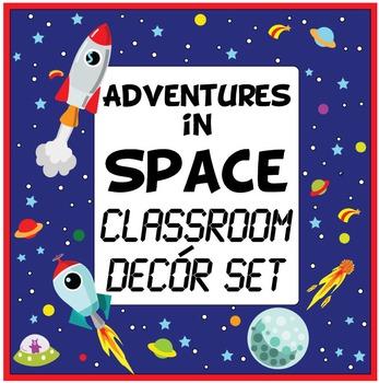 Adventures in Space Classroom Decór / Decoration Set