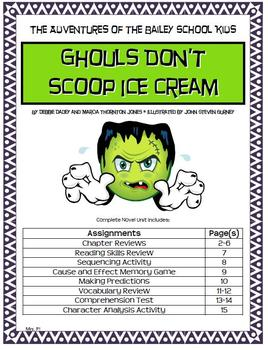 Adventures of Bailey School Kids: Ghouls Don't Scoop Ice Cream Novel Unit