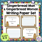 Gingerbread Man Writing and Gingerbread Woman Writing Paper Set
