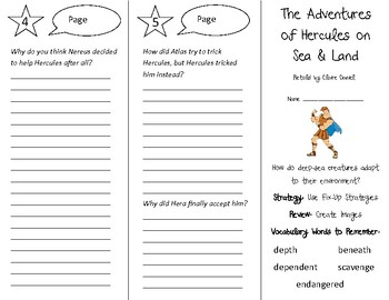 Adventures of Hercules on Sea & Land Trifold - 5th Gr Literacy by Design Th 8