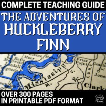 """Adventures of Huckleberry Finn """"Huck Finn"""" Lesson, Activity, Assessment Bundle"""