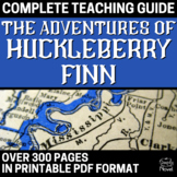"Adventures of Huckleberry Finn ""Huck Finn"" Lesson, Activity, Assessment Bundle"