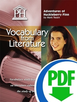 Adventures of Huckleberry Finn Vocabulary from Literature