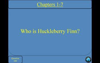 Adventures of Huckleberry Finn by Mark Twain Jeopardy PowerPoint Game