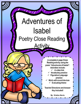 Adventures of Isabel- Close Reading Activity