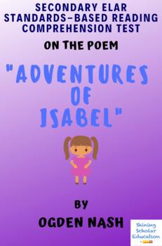 Adventures of Isabel by Ogden Nash MC Reading Analysis & Comprehension Test