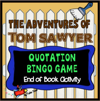 Adventures of Tom Sawyer Bingo Game