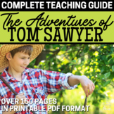 Adventures of Tom Sawyer Literature Guide Novel Unit BUNDLE   DISTANCE LEARNING