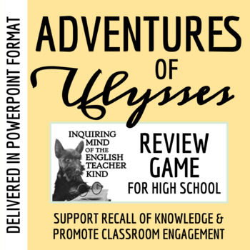 Adventures of Ulysses by Bernard Evslin - Jeopardy Review (Power Point)