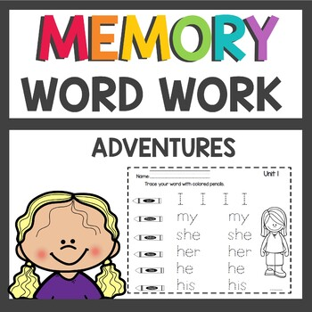 Adventures of the Superkids Memory Word Worksheets
