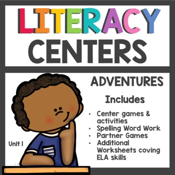 First Grade Literacy Centers Unit 1