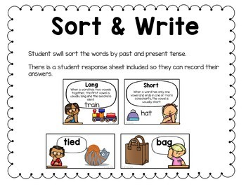 First Grade Literacy Centers Units 9 and 10