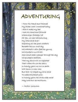 Adventuring Poem poster