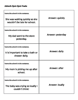 Adverb Activites