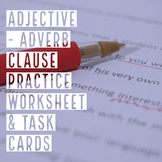 Adverb & Adjective Phrase Practice & Task Cards