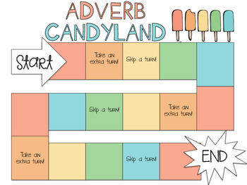 Adverb Candyland (Common Core Aligned)