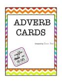 Rainbow Chevron Adverb Cards