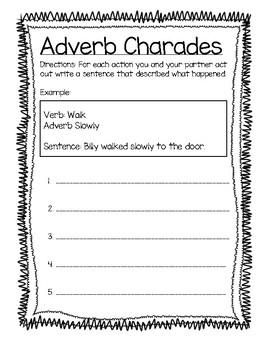 Adverb Charades