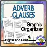 Adverb Clauses Graphic Organizer