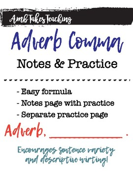 Adverb Comma