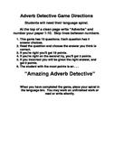 Adverb Detective Station Folder Game for Centers, DIY's, a