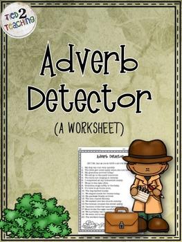 Adverb Detector (A Worksheet)