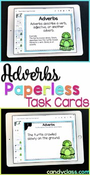 Adverb Task Cards: 2nd Grade Grammar Centers for Google Classroom Use