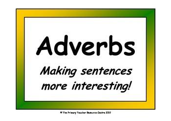 Adverb Display Pack