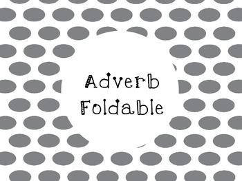Adverb Foldable