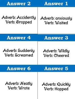 Adverb Jenga Freebie!!!!!