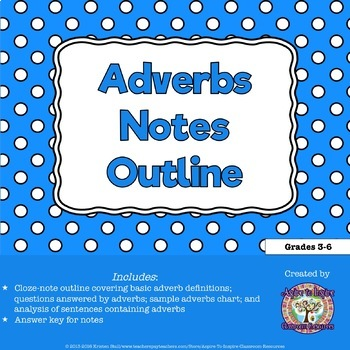 Basic Adverbs Notes Outline