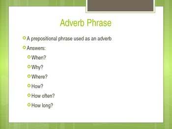Adverb Phrase Lesson