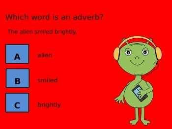 Adverb Power Point - Clicker Lesson