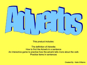 Adverb PowerPoint Lesson