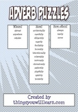 Adverb Puzzle Set (Word Search & Crossword)
