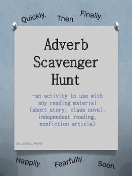Adverb Scavenger Hunt...for any story or novel!