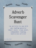 Adverb Scavenger Hunt...for any story or novel!