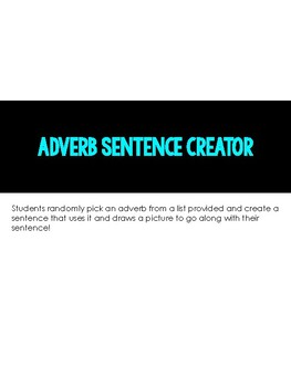 Adverb Sentence Creator