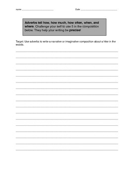 Adverb Slideshow Student Response Packet
