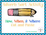 Adverb Sort Activity