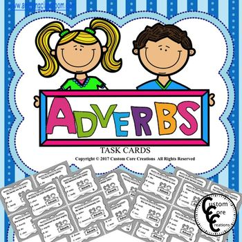 Adverb Task Cards (Parts of speech)