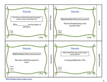 Adverb Task Cards